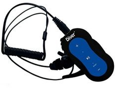 Diver (TM) Waterproof Earbuds For Swimming with Player Waterproof Headphones, Recording Equipment, Mp4 Player, Amazon Price, New Blue, Consumer Electronics, Swimming, Kit, Diving