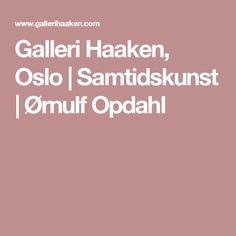 Galleri Haaken, Oslo | Samtidskunst | Ørnulf Opdahl