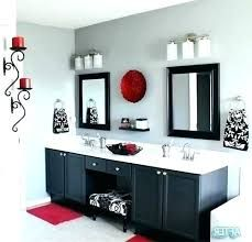 Red And Grey Bathrooms Google Search Gray Bathroom Decor Black Bathroom Decor Red Bathroom Decor
