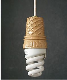 Kawaii! ice cream cone light!