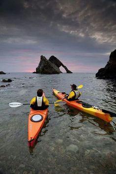 Kayak en escosia Lugares 233Bow Fiddle Rock, Scotland
