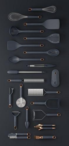 Klicken Sie auf Clack Prep Tools on Behance - Küchengeräte Cute Kitchen, Kitchen Items, Kitchen Decor, Design Kitchen, Kitchen Black, Kitchen Interior, Kitchen Cutlery, Silicone Kitchen Utensils, Kitchen Utensil Set