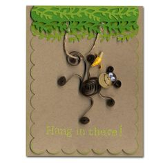 Quilled Monkey Card