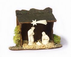 OOAK Miniature Nativity Scene for your Dollhouse