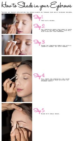 Beauty: Picture Perfect Lips & Brows (Tutorial) | How to shade in your eyebrows via @Nicky Crowley Crowley Cosio