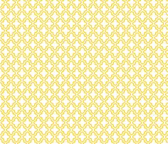 Hollow Moroccan in Sunny Yellow fabric by fridabarlow on Spoonflower - custom fabric