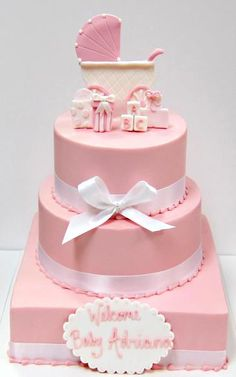 #baby #cake #cakes #pink