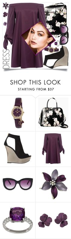 """""""off shoulder dress 2017 spring"""" by teto000 ❤ liked on Polyvore featuring Radley, Kate Spade, Balmain, TIBI, Steve Madden, Lord & Taylor, offshoulderdress and Spring2017"""