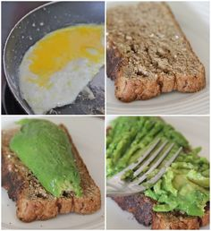toast avocado egg, add red pepper flakes
