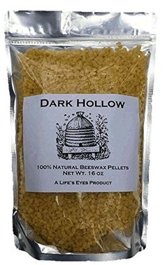 100% Natural Yellow Beeswax Pellets Plus 3 Candle Wicks - 1 LB (Pound) Bag, 100% Pure and Filtered * For more information, visit http://www.amazon.com/gp/product/B01BO2KH0U/?tag=homeimprtip08-20&qr=170716051624