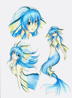 too obvs that Vaporeon would be a mermaid :D #Vaporeon #Gijinka #Eeveelutions