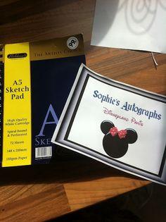 DIY Disney Autograph books - also Disney activity folder, easy on the budget!