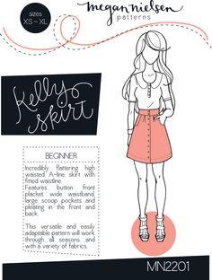 Megan Nielsen Kelly skirt sewing pattern // http://megannielsen.com/collections/sewing-patterns/products/kelly-skirt-sewing-pattern