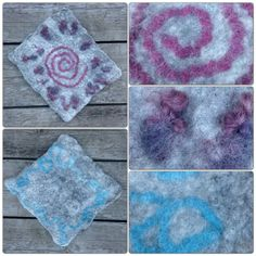 Textiles, Wet Felting, Wool Felt, Felted Wool, Lana, Rugs, Diy, Inspiration, Design