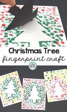 Create this Christmas Tree Thumbprint Art in your kindergarten classroom as your next Christmas craft! It's a fine motor Christmas craft idea for kids. crafts for kids Christmas Tree Thumbprint Art Christmas Arts And Crafts, Christmas Fun, Toddler Christmas Crafts, Christmas Carol, Christmas Quotes, Christmas Tree Art, Christmas Ornaments, Christmas Canvas, School Christmas Cards