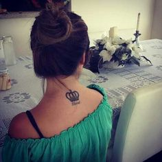Crown tattoo... Like the placement