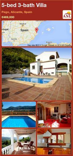 5-bed 3-bath Villa in Pego, Alicante, Spain ►€469,000 #PropertyForSaleInSpain