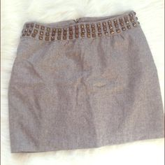 🔴Reduced🔴Urban Outfitters Wool Skirt Wool zip closure skirt. Stud detailing around the waist of the skirt. A great piece for the fall. Urban Outfitters Skirts