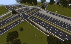 Highway Diamond Interchange Minecraft Project