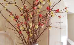 Flores de duraznero con papel tissue
