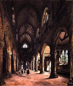 "mortisia: ""The Ruins of Rosslyn Chapel by Louis Daguerre Daguerre's career was unmistakingly overshadowed by his contribution to photography but he was also a gifted painter. Templar Treasure, Louis Daguerre, Rosslyn Chapel, Derelict Places, History Of Photography, Photography 2017, Chapelle, Paris, Les Oeuvres"