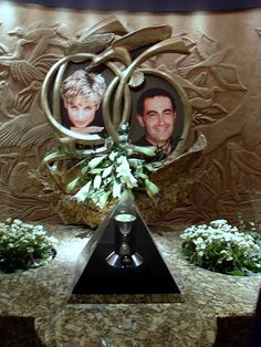 The Dodi and Diana Memorial at Harrod's which used to be owned by Mohammed Al Fayed.