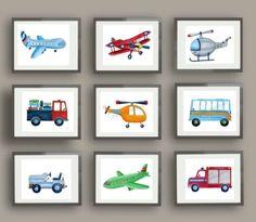 BRODY-TRANSPORTATION-AIRPORT-TRUCK-AIRPLANE-HELICOPTER-BOY-CHILDREN-ART-DECOR