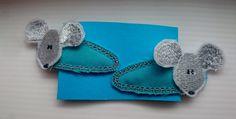 """Haarspangen - Haarspangen """"Maus"""" blau - ein Designerstück von Uebbikate bei DaWanda"""
