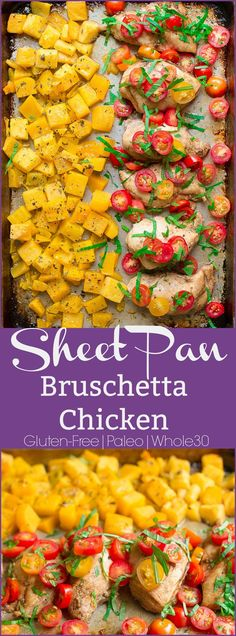 Pan Bruschetta Chicken Super simple weeknight meal that comes together in less than 30 minutes! Paleo and approved.Super simple weeknight meal that comes together in less than 30 minutes! Paleo and approved. Paleo Whole 30, Whole 30 Recipes, Great Recipes, Paleo Recipes Easy, Real Food Recipes, Chicken Recipes, Cookbook Recipes, Turkey Recipes, Healthy Weeknight Meals