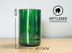 Gläser - MITTLERER / Ø 7-7,5CM/ TANNENGRÜN (Glas / Becher) - ein Designerstück von Glaeserne_Transparenz bei DaWanda