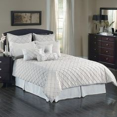 (Click to order - $270.99) Oasis Linen Comforter Set Size: Queen From Chelsea Frank Group