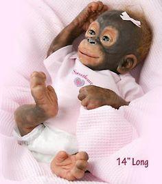 """So truly real """"Little Umi"""" Ashton Drake monkey doll."""