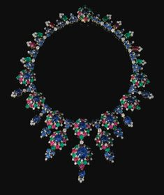 PROPERTY OF A EUROPEAN PRINCELY FAMILY VERY ATTRACTIVE GEM SET AND DIAMOND NECKLACE, BULGARI, CIRCA 1965 Estimate      198,841 - 397,681USD  LOT SOLD. 658,267 USD