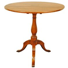French Late Neoclassic Walnut Tilt-Top Table, Second Quarter of the 19th Century | See more antique and modern End Tables at https://www.1stdibs.com/furniture/tables/end-tables