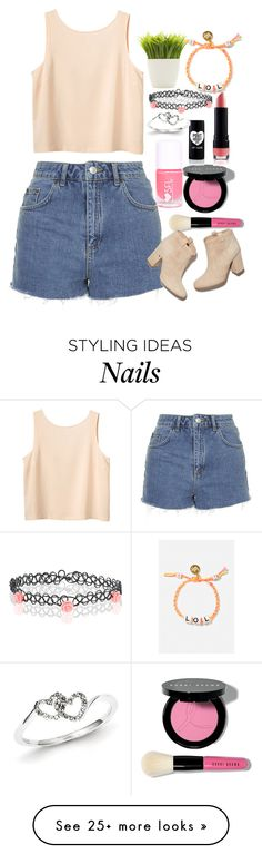 """Untitled #84"" by amanda-s-irizarry on Polyvore featuring Monki, Topshop, Bobbi Brown Cosmetics, Accessorize, Laurence Dacade, Kevin Jewelers, Venessa Arizaga and Dot & Bo"