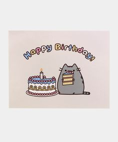 This adorable card is the perfect way to say Happy Birthday to fans of Pusheen! Card measures x Inside card is blank. Content: Single Card option includes 1 card and 1 Pusheen envelope. option includes 5 cards and 5 Pusheen envelopes. Pusheen Birthday, Cat Birthday, Birthday Cards, Happy Birthday, Birthday Ideas, Pusheen Shop, Pusheen Cat, Jack And Mark, Frases
