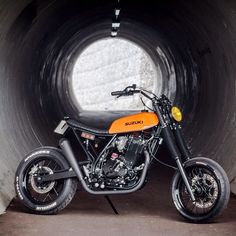 Orange Crush:  Suzuki DR650 by @le_french_atelier. #dr650 #dualsport #thumper #tracker #scrambler