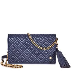 116770997413 Shop for Fleming Flat Wallet Crossbody Bag- Royal Navy by Tory Burch at  JOMASHOP for