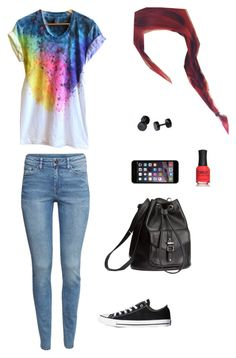 """""""Untitled #5399"""" by northamster ❤ liked on Polyvore featuring H&M and Converse"""