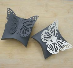 Pillow Box & butterfly  SVG cutting file for by paperlunies
