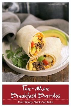 Tex-Mex Breakfast Burritos - loaded with flavorful beef, scrambled eggs, cheese, potatoes and pico de gallo for a fabulous start to your day! Breakfast For Dinner, Best Breakfast, Savory Breakfast, Quesadillas, Nachos, Brunch Recipes, Breakfast Recipes, Brunch Ideas, Scrambled Eggs With Cheese