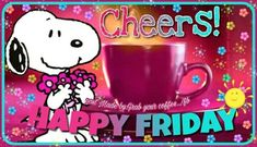 We have 50 Friday images, greetings, wishes and quotes to help you celebrate you Friday with style! These Friday images with quotes will be perfect for any mood you have! Good Morning Friday Pictures, Good Morning Wishes Gif, Friday Morning Quotes, Good Morning Snoopy, Happy Friday Quotes, Good Morning Friends Quotes, Morning Quotes Images, Blessed Friday, Snoopy Love