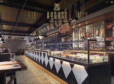 AuGust restaurant in the Widder hotel in Zurich Restaurant Bar, Hotel Food, Butcher Shop, Cafe Bar, Places To Eat, Track Lighting, Restaurants, Switzerland, Zurich