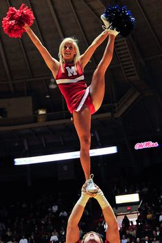 Ole Miss #Cheer, college cheerleading, heel stretch, stunt, cheerleader, collegiate moved from Kythoni's Cheerleading: Collegiate board http://www.pinterest.com/kythoni/cheerleading-collegiate/ m.20.7