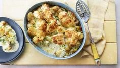 Combine the flavours of fish pie and cauliflower cheese and you get this wonderful dish!