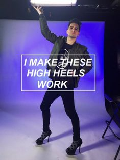 yasssssss!!!!! Finally the high heels.  Just need a music video now.  Please........Brendon .