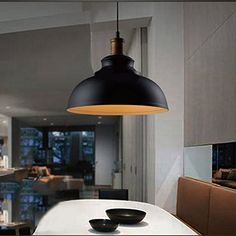 info for b66d3 2b6e0 Matte Black Dome Single Pendant Light in Retro Loft Style for Kitchen  Island Farmhouse Restaurant, Fashion Style Industrial Lighting