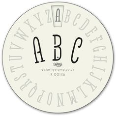Craftie-Charlie: Clarity Wheelie Stencils Simple Alphabet Stencil Mask R00146 £5.95