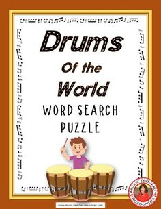 Drums of the World Word Search Puzzle This Word Search Puzzle contains 30…