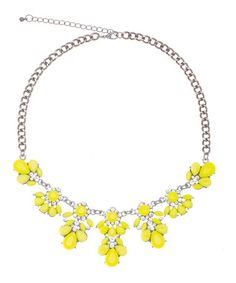 Love this Neon Yellow & Sparkle Antique Flower Necklace by ally+zoe on #zulily! #zulilyfinds